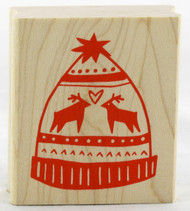 Shop now for Winter Stocking Cap Wood Mounted Stamp