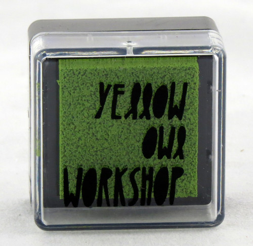 Buy this small green pre-inked stamp pad from Yellow Owl Workshop