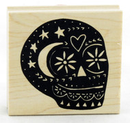 Shop now for Mexican Sugar Skull Wood Mounted Stamp