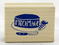 Shop now for Fromage Cheese Wood Mounted Stamp