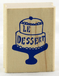 Click here to buy Yellow Owl Workshop Wood Mounted Stamp Le Dessert