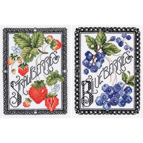 Shop now for Janlynn 2-Pack Blackwork Berries Cross Stitch Kit