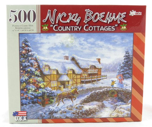 Shop now for Country Cottages 500 Piece Jigsaw Puzzle Nicky Boehme