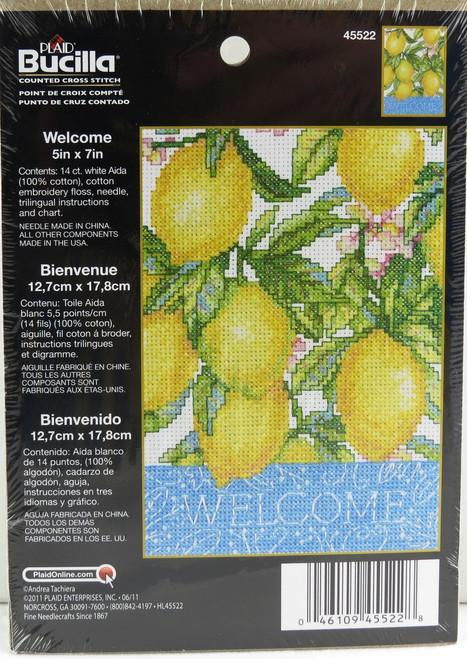 Shop now for Bucilla Cross Stitch Kit Welcome Lemons