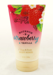Shop here for this fruity body scrub Bourbon Strawberry Vanilla Bath and Body Works