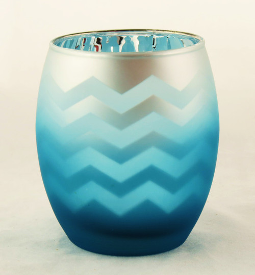 Shop now for Blue Flickering Chevron Egg Frosted Candle Holder Yankee