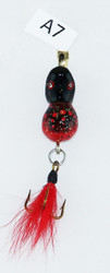 Click here to buy this Handmade Red Black Triple Hook Fly Fishing Lure