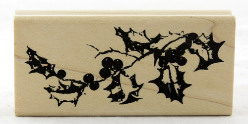 Click here for Tim Holtz Wood Mounted Stamp Holly Branch