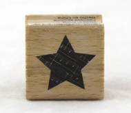 Small Star Wood Mounted Rubber Stamp Hot Fudge Studios