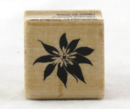 Small Poinsettia Wood Mounted Rubber Stamp Hot Fudge Studios
