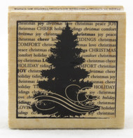 Christmas Tree Wood Mounted Rubber Stamp Hot Fudge Studios