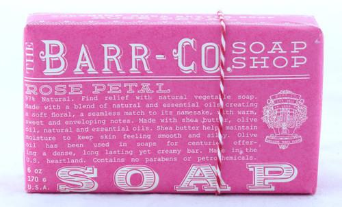 Rose Petal Bar Soap Barr-Co Soap Shop 6oz