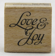 Love and Joy Wood Mounted Rubber Stamp Hot Fudge Studios