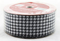 Black White Houndstooth Wide Wired Ribbon 50 yard