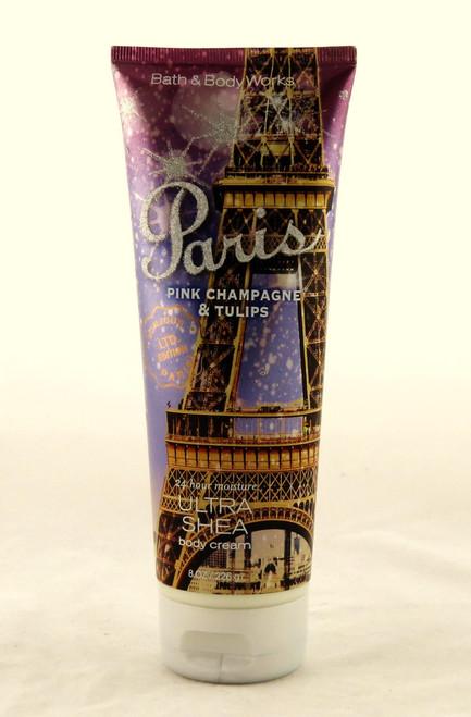 Paris Pink Champagne Tulips Ultra Shea Body Cream Bath and Body Works 8oz