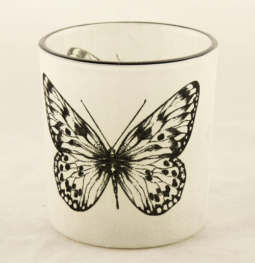 Butterfly Autumn Nature Glass Votive Candle Holder Yankee Candle
