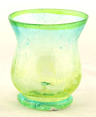 Flutterby Crackle Glass Hurricane Votive Candle Holder Yankee Candle