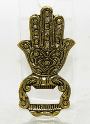 Gold Hamsa Hand Brass Bottle Opener Earthbound Trading