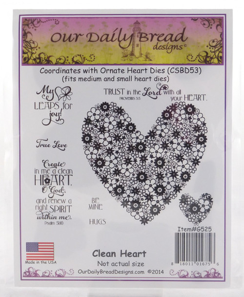 Clean Heart Cling Stamp Collection Our Daily Bread