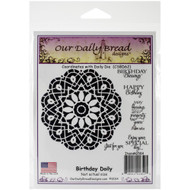 Birthday Doily Cling Stamp Collection Our Daily Bread