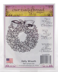 Holly Wreath Cling Stamp Collection Our Daily Bread