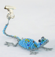 Lizard Beaded Photo Card Clip (You Choose Color)