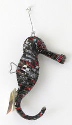 Recycled Tin Seahorse Ornament