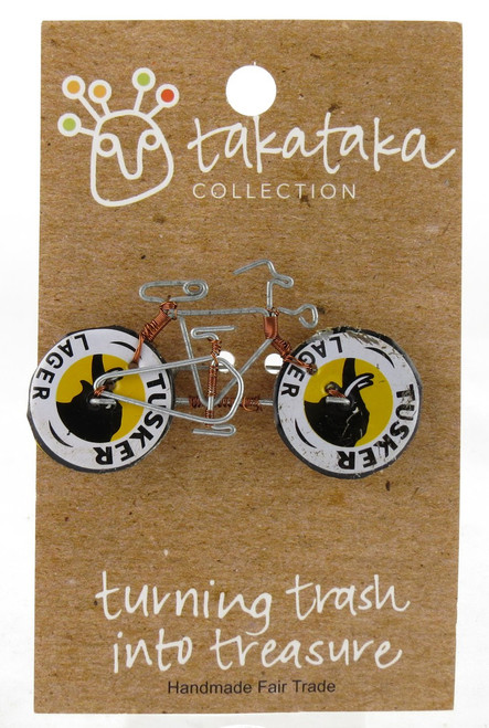 Tusker Lager Bottle Cap Bicycle Pin
