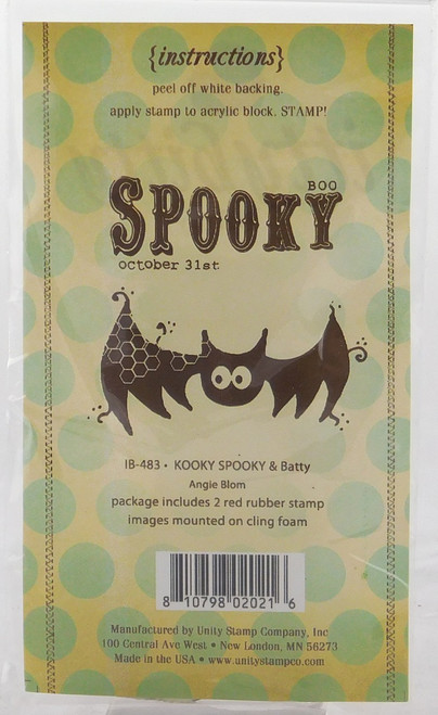 Kooky, Spooky, & Batty Cling Rubber Stamp Itty Bitty