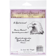 In God We Trust Cling Stamp Collection Our Daily Bread