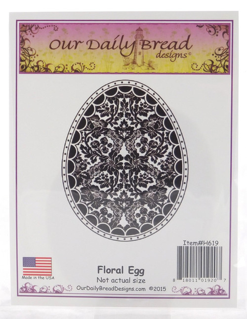 Floral Egg Cling Stamp Our Daily Bread