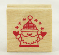 Santa Claus Wood Mounted Rubber Stamp Inkadinkado