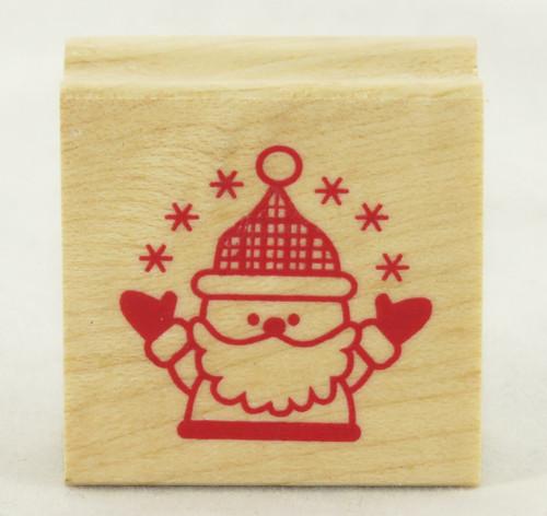 Santa Claus Wood Mounted Rubber Stamp Inkadinkado