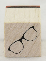 Eyeglasses Wood Mounted Rubber Stamp Inkadinkado