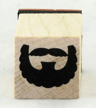 Full Beard Wood Mounted Rubber Stamp Inkadinkado