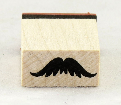 Bushy Mustache Wood Mounted Rubber Stamp Inkadinkado