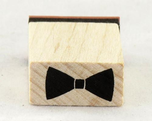 Bow Tie Wood Mounted Rubber Stamp Inkadinkado