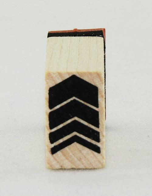 Blocky Arrow Wood Mounted Rubber Stamp Inkadinkado