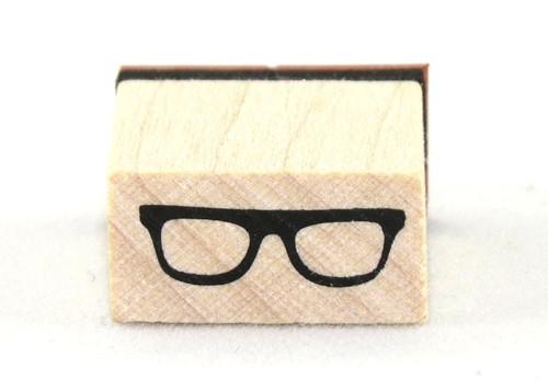 Sixties Eyeglasses Wood Mounted Rubber Stamp Inkadinkado