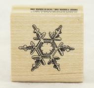 Snowflake Hexagram Wood Mounted Rubber Stamp Inkadinkado