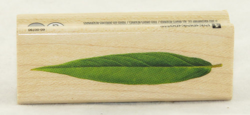 Linear Leaf Wood Mounted Rubber Stamp Inkadinkado