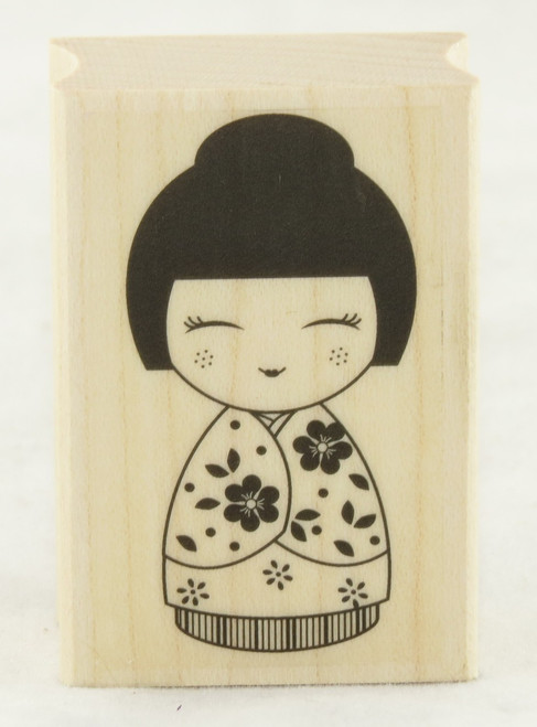 Japanese Doll #2 Wood Mounted Rubber Stamp Hero Arts