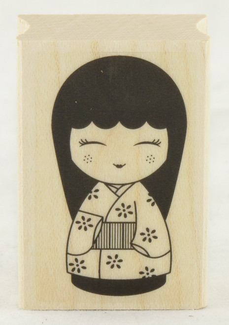 Japanese Doll #3 Wood Mounted Rubber Stamp Hero Arts