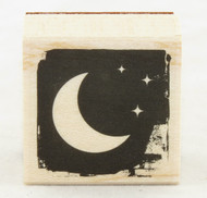 Moon Wood Mounted Rubber Stamp Hero Arts