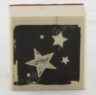 Stars Wood Mounted Rubber Stamp Hero Arts