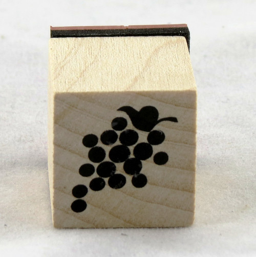 Grapes Wood Mounted Rubber Stamp Inkadinkado