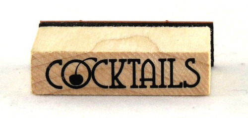 Cocktails Wood Mounted Rubber Stamp Inkadinkado