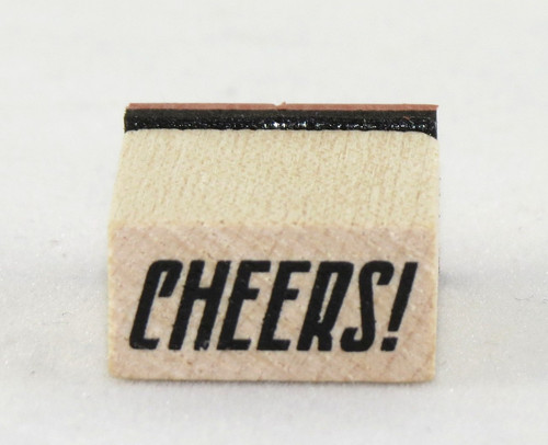 Cheers Wood Mounted Rubber Stamp Inkadinkado