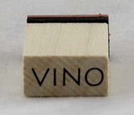Vino Wood Mounted Rubber Stamp Inkadinkado