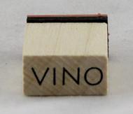 Vino Wood Mounted Rubber Stamp Inkadinkado